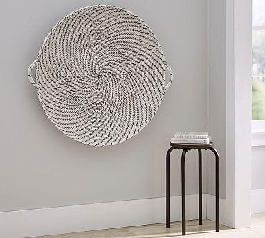 Hapao Black and White Basket Wall Art