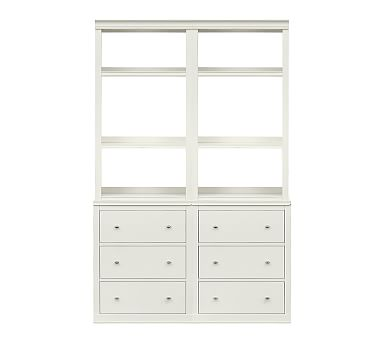 Logan Bookcase with Drawers, Antique White