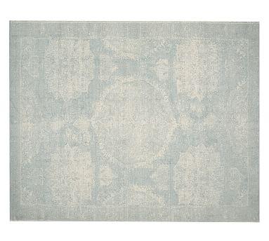 Barret Printed Rug, 8x10', Porcelain Blue