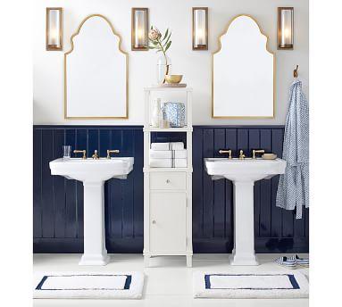 """Stella Powder Room Mirror, 22 x 36"""", Brass"""