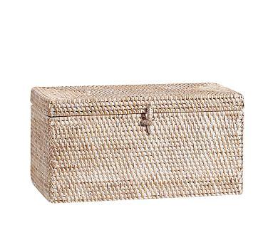 Tava Lidded Box, Whitewash