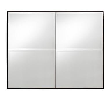 """Brinkley Mirror, 30"""" x 42"""", Black"""