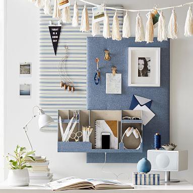 Fabric Wall Organizer, Double, Linen