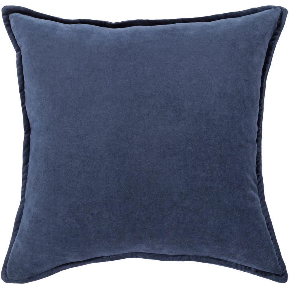 Velizh Poly Euro Pillow, Blue - 18 x 18