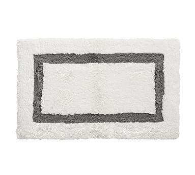 "Morgan Memory Foam Bath Rug, 27x45"", Flagstone"