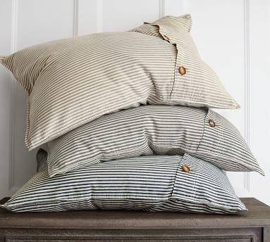 Wheaton Stripe Duvet Cover, King/Cal. King, Flax