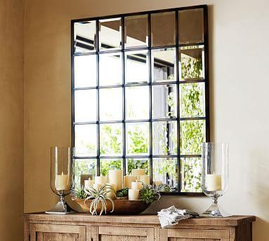 "Eagan Multipanel Large Mirror, 44 x 55"", Bronze Finish"