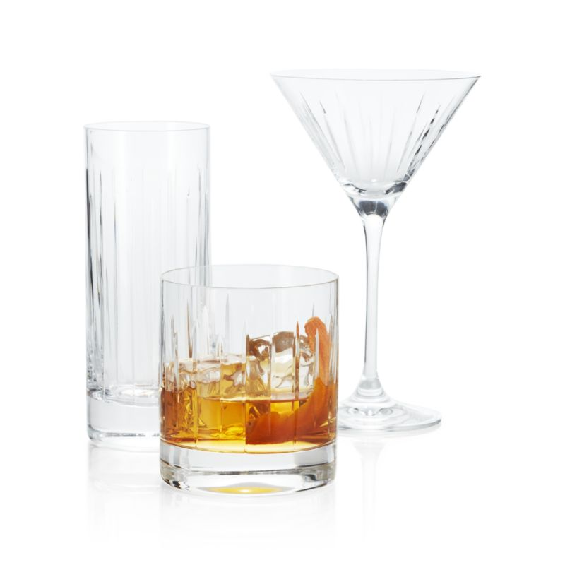 Vance Cut-Glass Double Old-Fashioned Glass