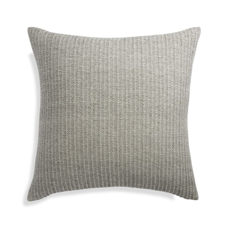 """Liano 23"""" Grey Pillow with Down-Alternative Insert"""