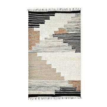 Colca Wool Rug, Flax, 8 x 10