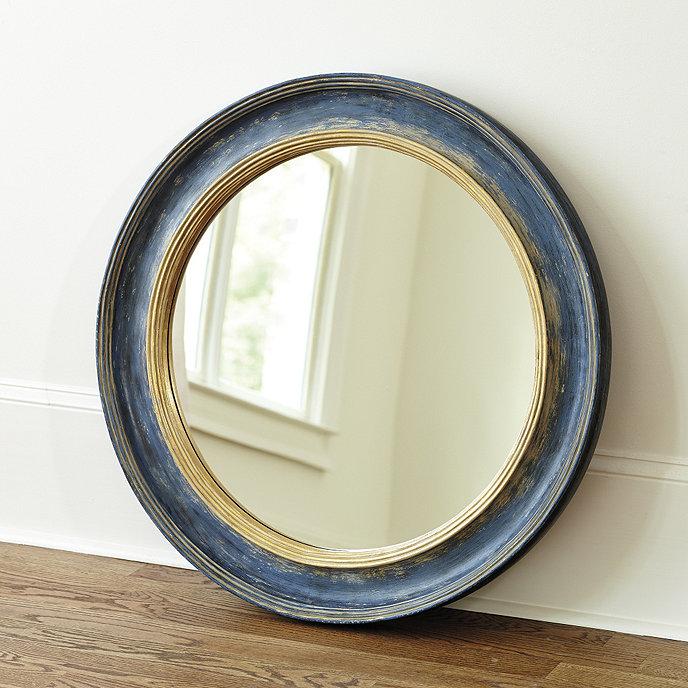 Ballard Designs Cassidy Mirror Blue 25 Inch