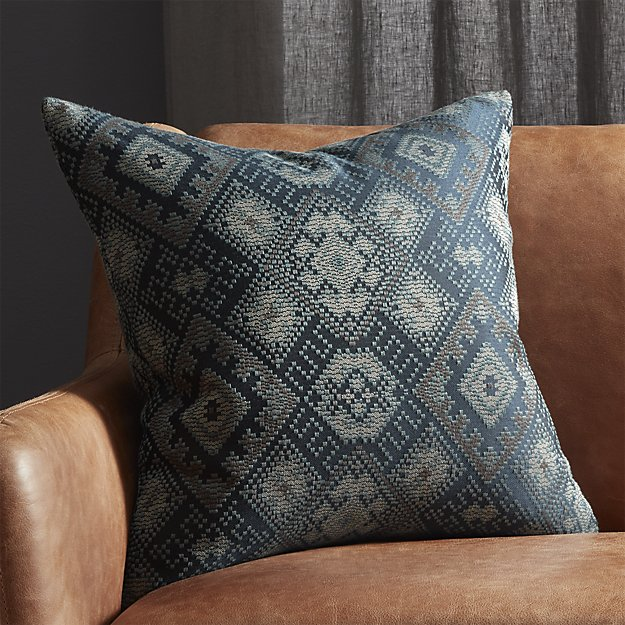 Ixchel Blue Patterned Pillow