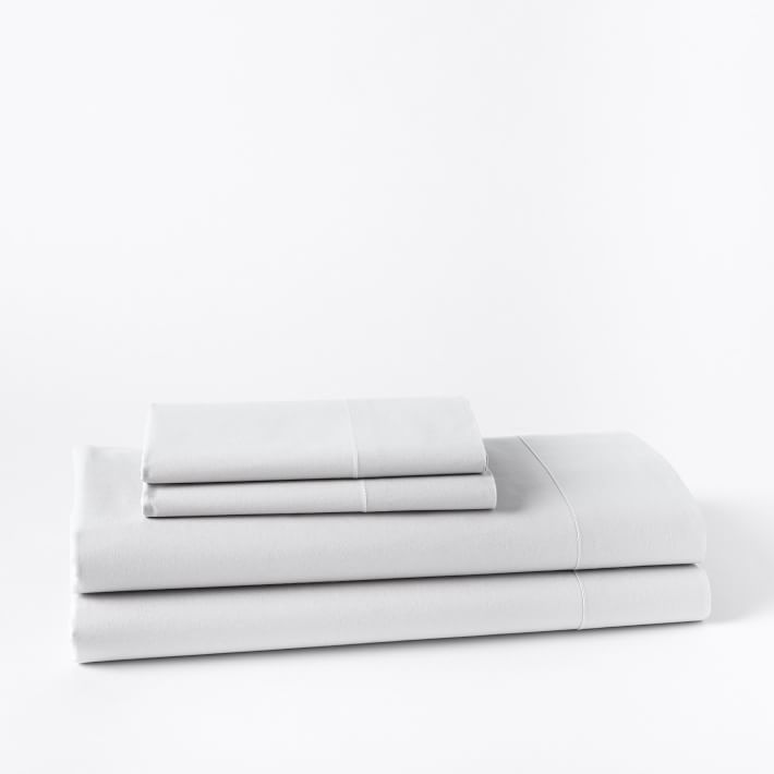 Organic Washed Cotton Sheet Set, King, Stone White