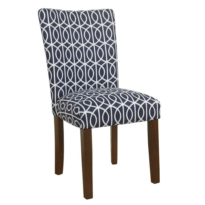 Zariyah Parsons Trellis Upholstered Dining Chair - set of 2