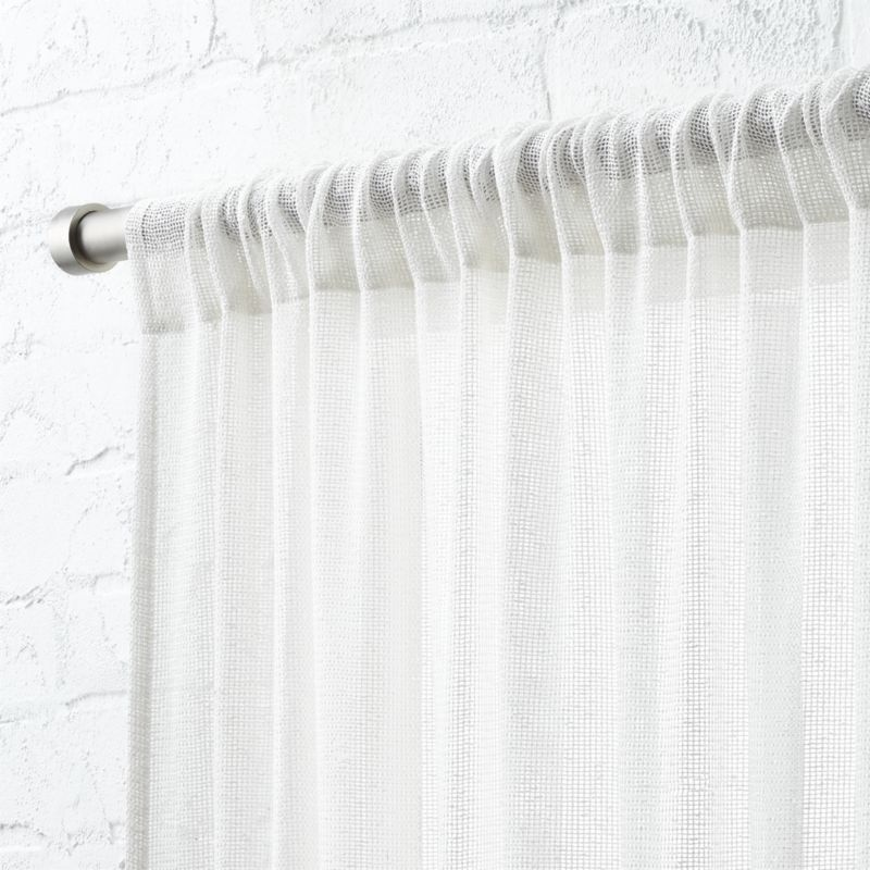 """White Net Curtain Panel 48""""x84"""""""