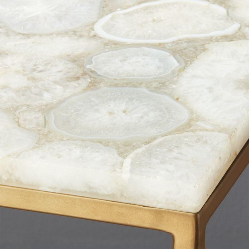 Iris White Agate Console Table
