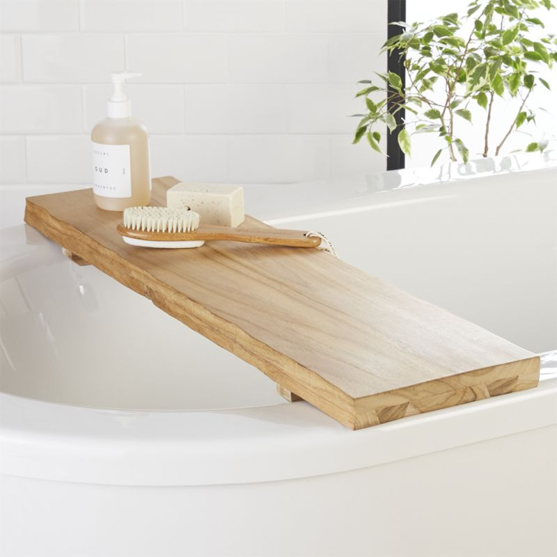 Live Edge Wood Bath Caddy