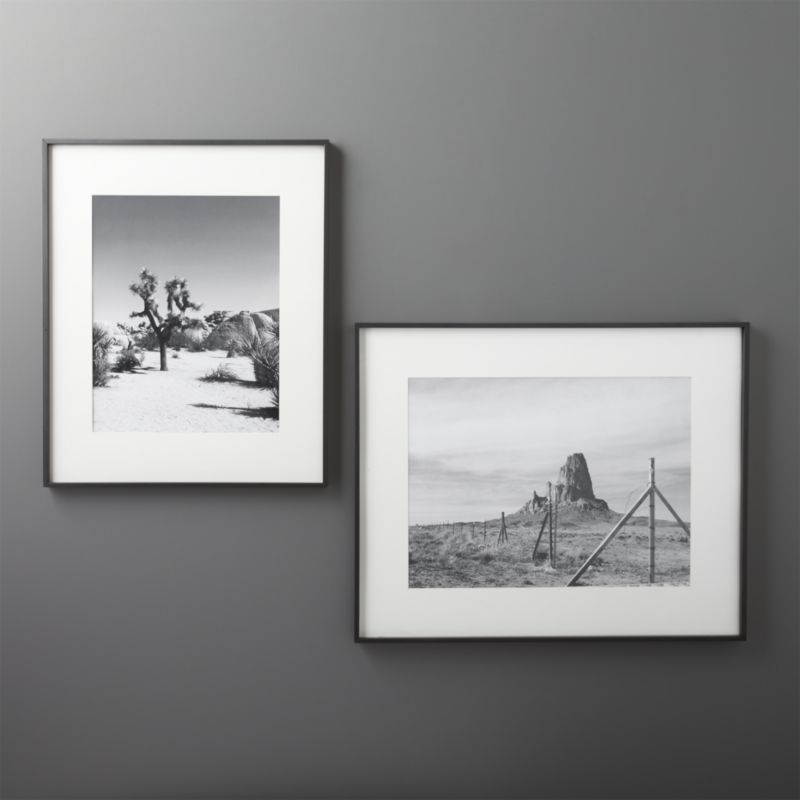Gallery Black 16x20 Picture Frame with White Mat