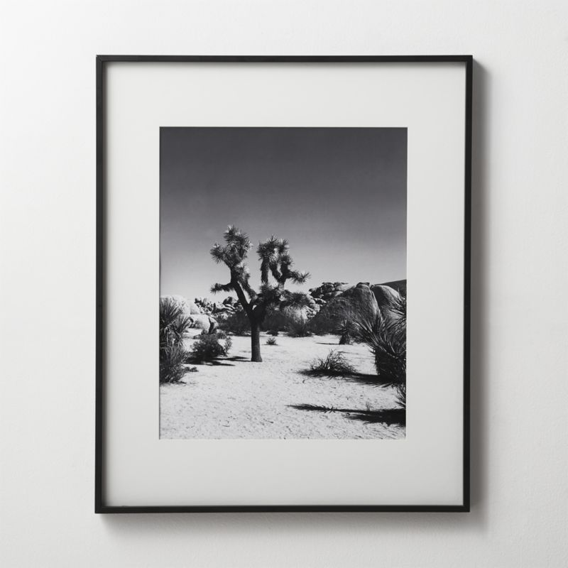 Gallery Black 18x24 Picture Frame with White Mat