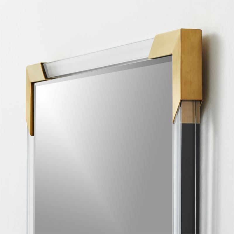 """Demi Rectangle Acrylic Mirror 36"""""""
