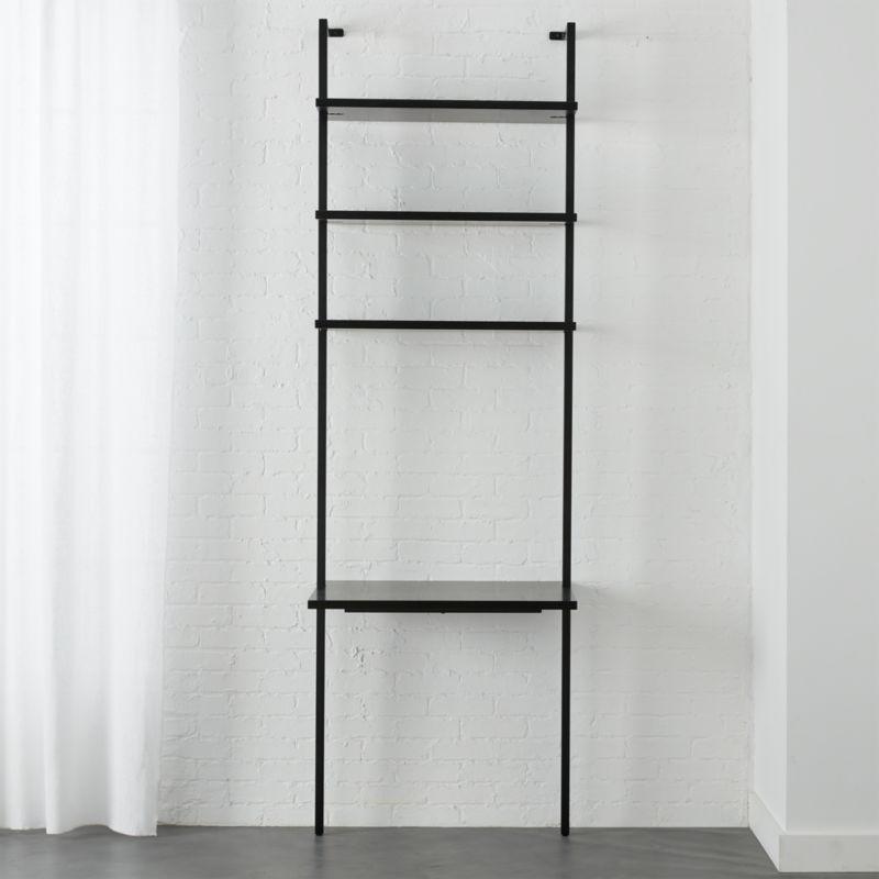 """Stairway Black 96""""  Desk"""