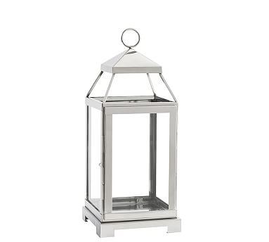Malta Lantern - Silver Finish, Medium