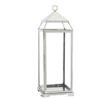 Malta Lantern - Silver Finish, Large