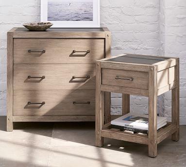 Brooklyn 3-Drawer Dresser, Weathered Grey