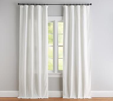 "Seaton Textured Drape, 50 x 96"", Gray Cotton Lining"