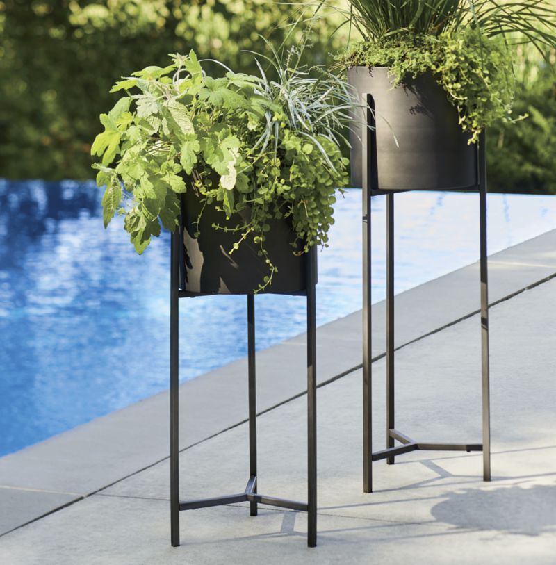Dundee Low Planter with Stand