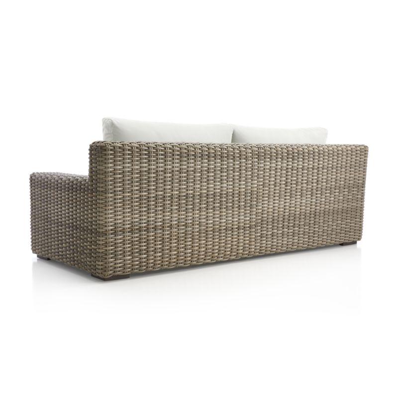 Cayman Outdoor Sofa with White Sand Sunbrella ® Cushions