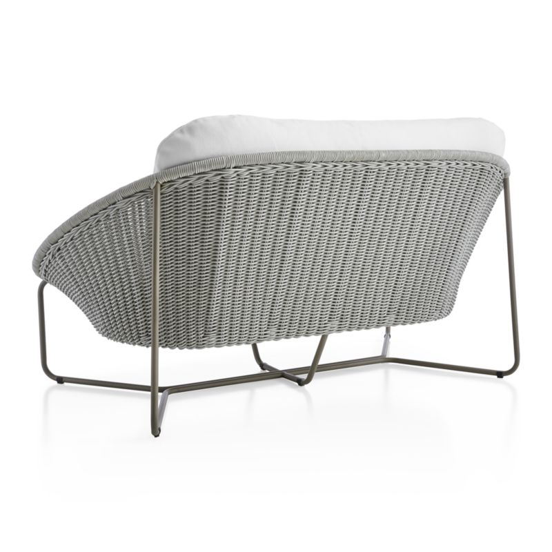 Morocco Light Grey Oval Loveseat with Cushion