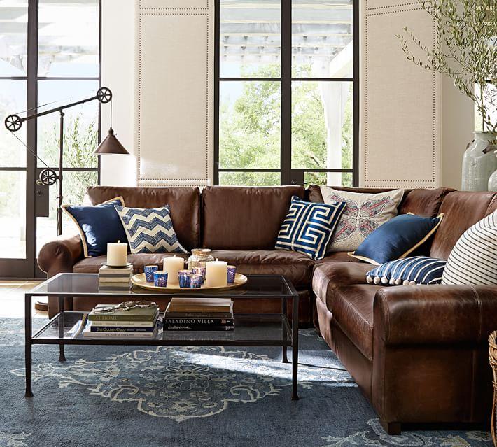 Classic Coastal Transitional Preppy Living Room Design By Havenly Interior Designer Christine