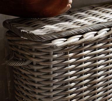 Aubrey Woven Oversized Lidded Basket