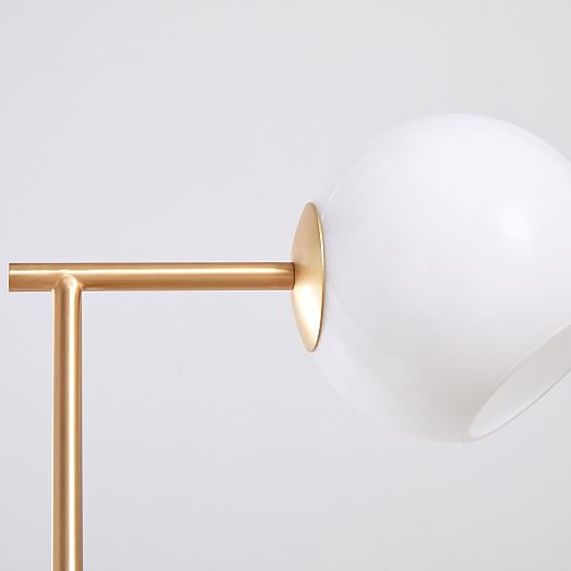 Staggered Glass Table Lamp + USB, Individual