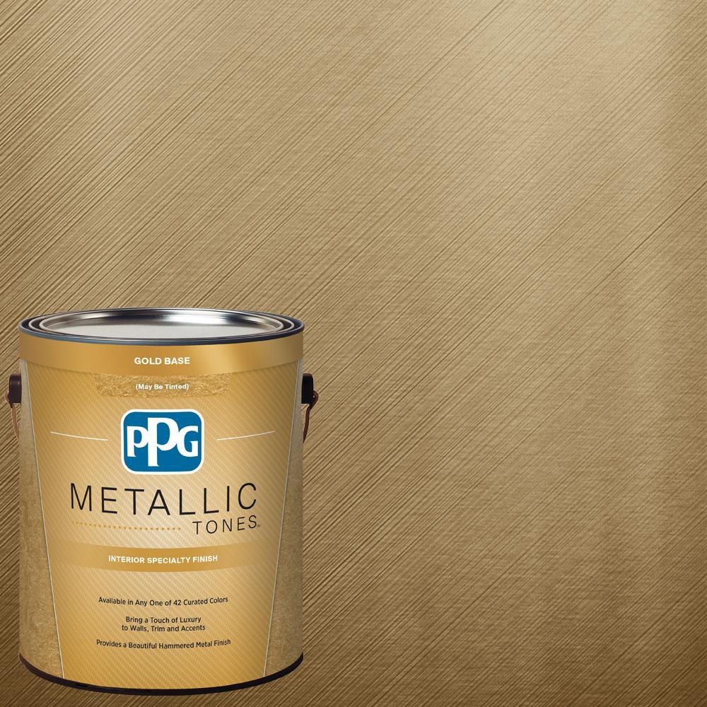 PPG METALLIC TONES 1 gal. #MTL136 Bronzed Ochre Metallic Interior Specialty Finish Paint, Metallics