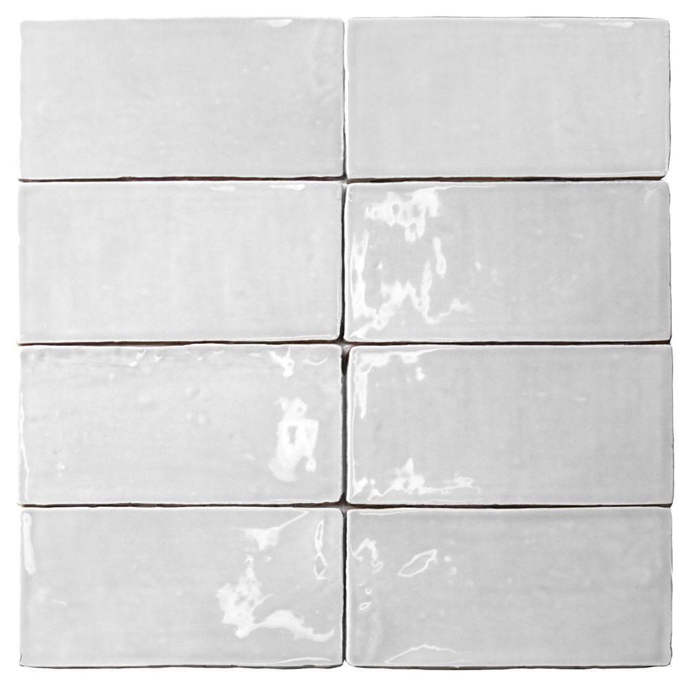 Splashback Tile Catalina White 3 In X