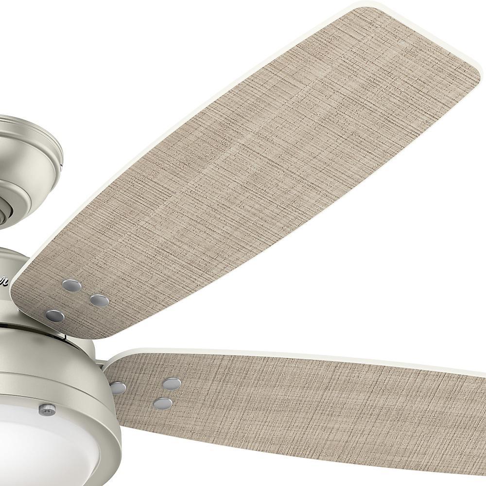 Hunter Channelside 52 in. LED Indoor/Outdoor Matte Nickel Ceiling Fan