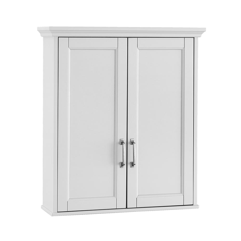 Home Decorators Collection Ashburn 23-1/2 in. W x 27 in. H x 8 in. D Bathroom Storage Wall Cabinet in White