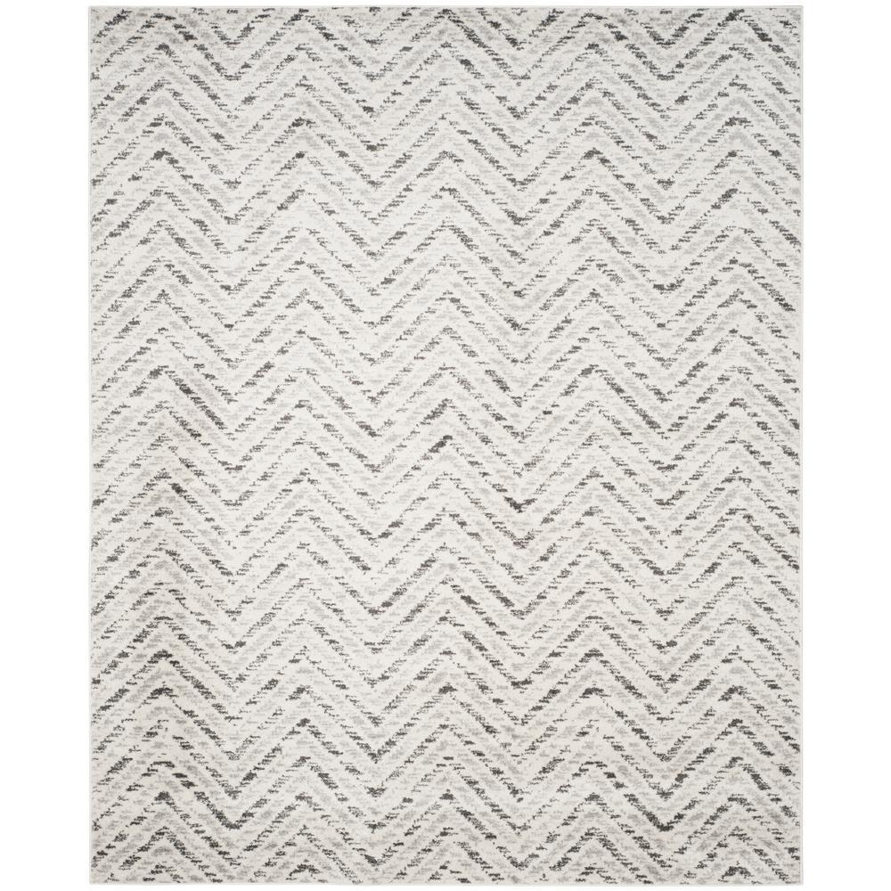 Adirondack Ivory/Charcoal (Ivory/Grey) 8 X 10 Area Rug