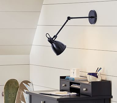 Library Wall Sconce, Black