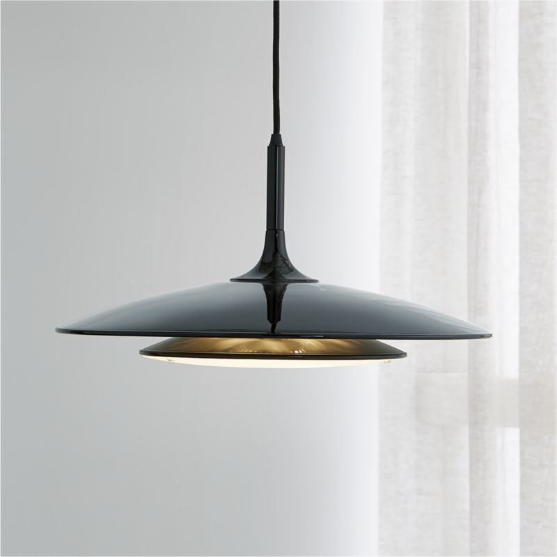 Gage Black Metal Pendant Lamp