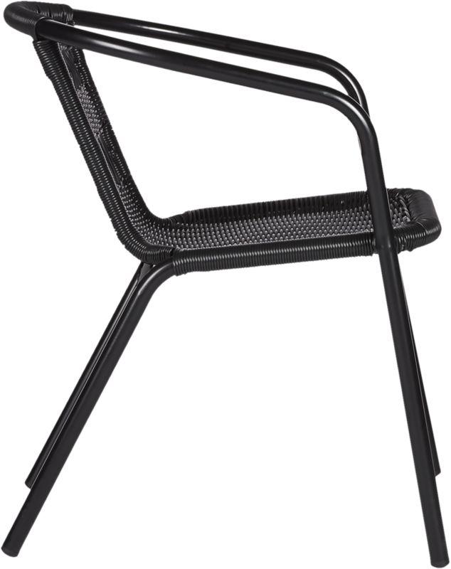 Rex Black Open Weave Chair