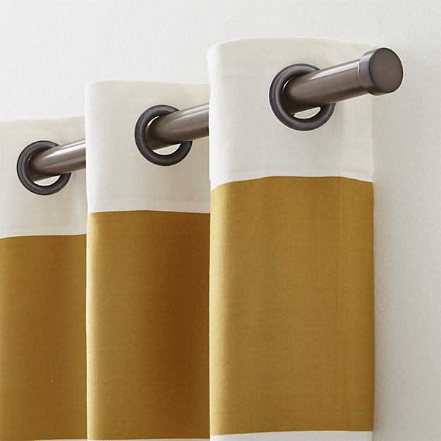 """Matte Bronze Curtain Rod Set, 120"""" - 170"""""""