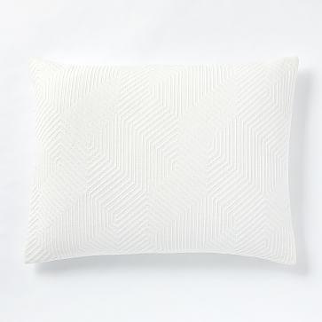 Organic Modern Geo Standard Sham, White