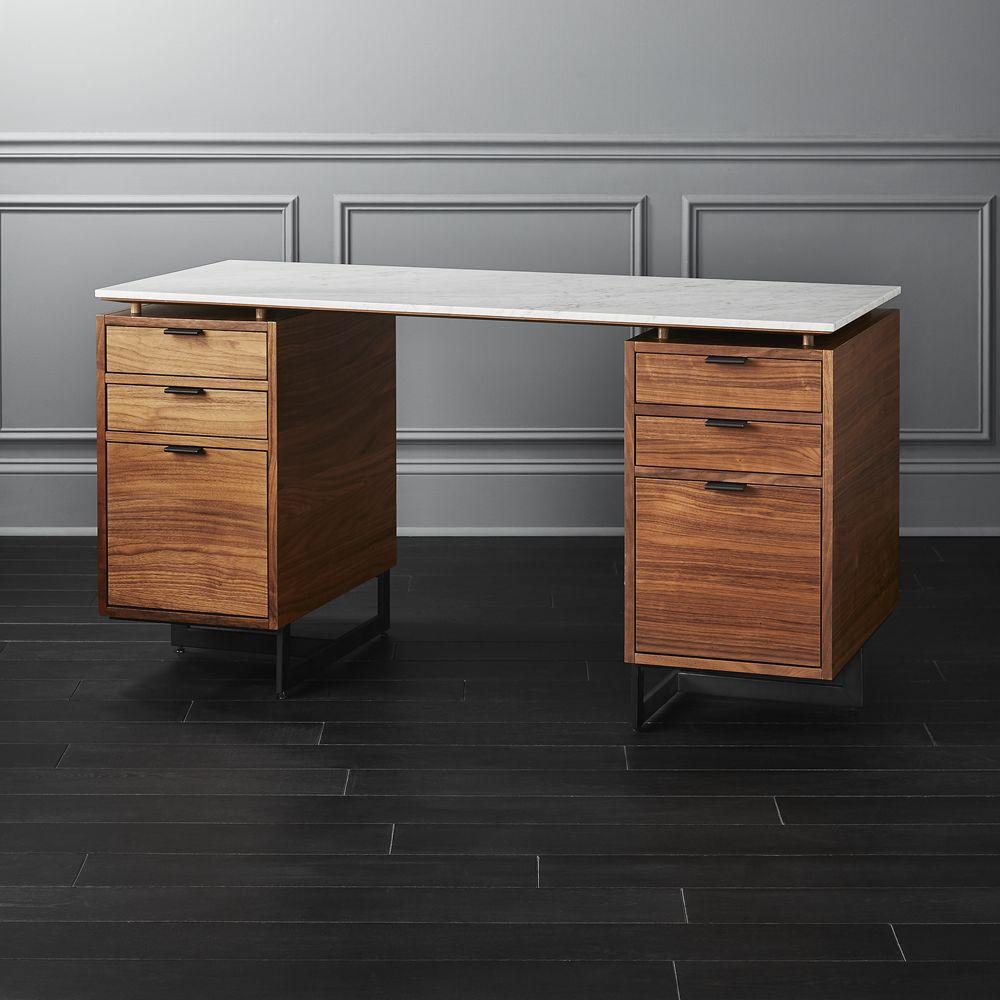 Fullerton Modular Desk with 2 Drawers