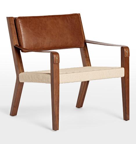 Shaw Walnut & Leather Lounge Chair