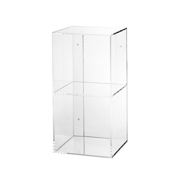 Now You See It 2-Bin Acrylic Shelf Bookcase clear