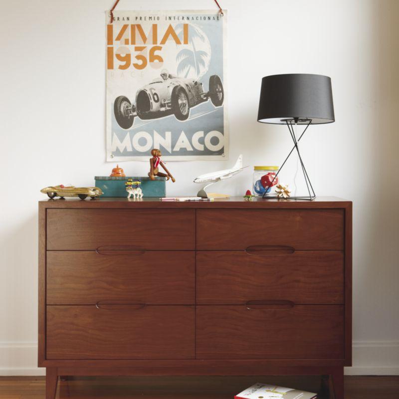 Kids Ellipse Mid-Century Walnut Dresser