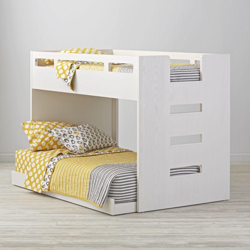 Abridged White Glaze Low Twin Bunk Bed